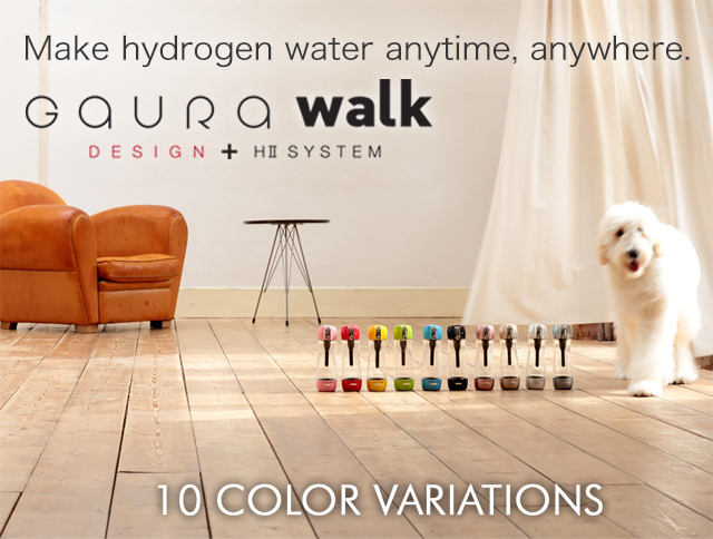 Portable bottle-type hydrogen water generator. GAURA walk